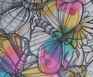 butterfly, cmyk, and kawaii image
