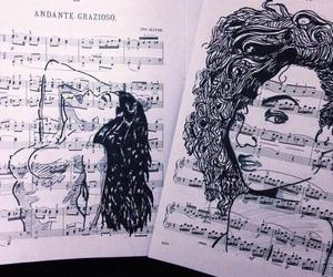 art, music, and black and white image