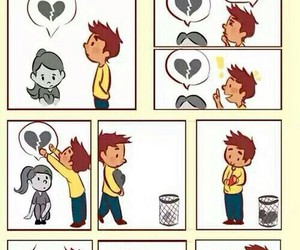 love, heart, and boy image