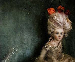 doll, rococo, and powdered wig image