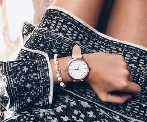 outfit, watch, and bracelet image