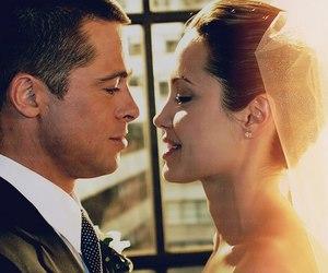 Angelina Jolie, brad pitt, and love image