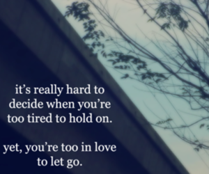 love, let go, and hold on image