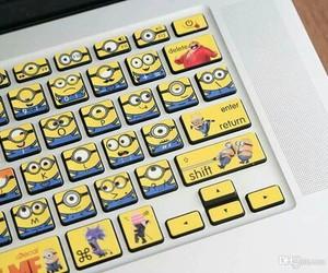 minions, keyboard, and yellow image