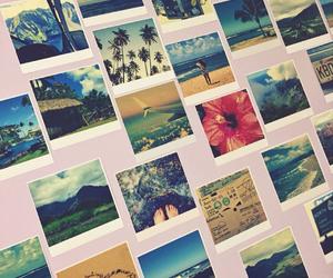 beach, photos, and polaroid image