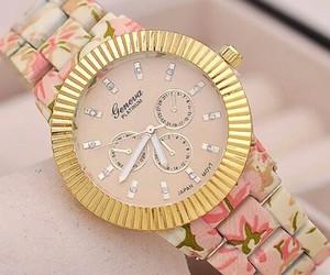 flowers, girly, and reloj image