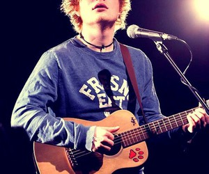 guitare, singer, and ed sheeran image