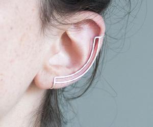 earrings, couple, and fashion image
