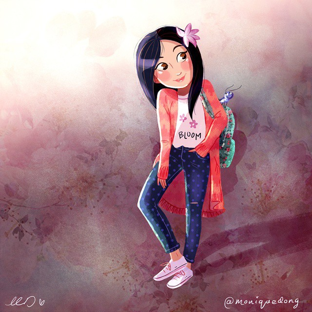 Monique On Instagram The Flower That Blooms In Adversity Is The Most Rare And Beautiful Of All Mulan Art Drawing Disney Princess Illustration Fanart Fantasy Characterdesign Childrensillustration Graphic Design Cute Cartoon Artistoninstagram