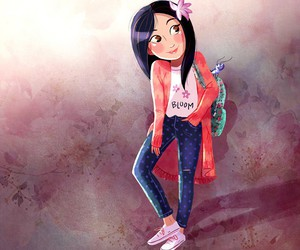 disney, mulan, and teenager image