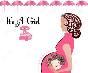 baby, baby girl, and cartoon image