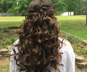 curls, hair, and Prom image