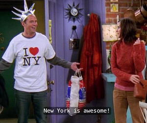 chandler bing, new york, and tv shows image
