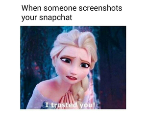 snapchat, frozen, and funny image
