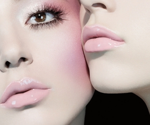 makeup, pink, and model image