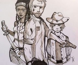 art, the walking dead, and twd image