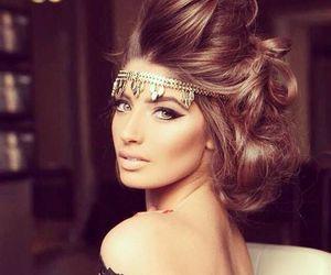 hair, beautiful, and make up image