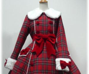 bow, coat, and lolita image