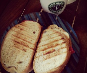 bread, starbucks, and cheese image