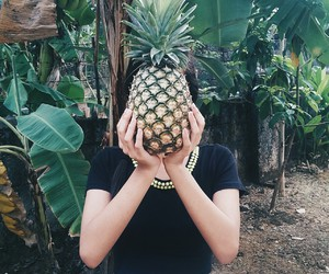 crazy, girl, and pineapple image