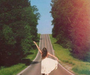 freedom, girl, and road image