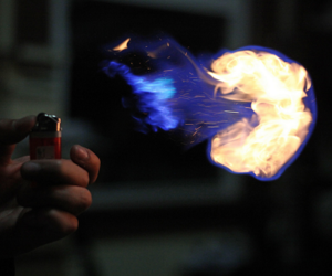 fire, lighter, and cool image