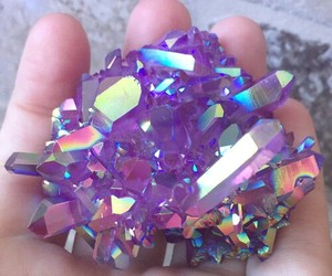 colour, crystal, and purple image