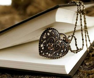 heart, book, and vintage image