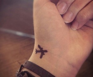 airplane, tattoo, and awesome image