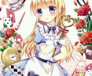 alice in wonderland and anime image
