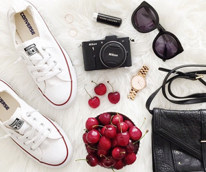 converse, cherry, and nikon image