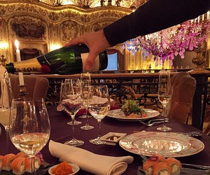 luxury, food, and champagne image