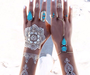 boho, girl, and blue image