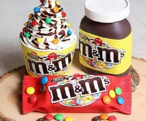chocolate, food, and m&m image