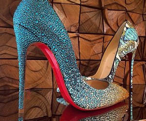 high heels, shoes, and louboutin image