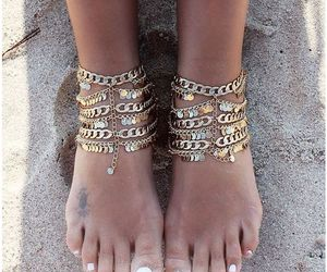 fashion, jewels, and feet image