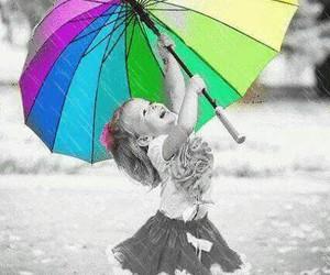 umbrella, baby, and girl image