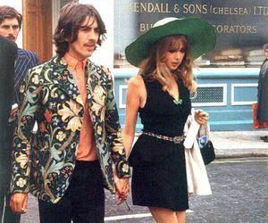 george harrison, pattie boyd, and the beatles image