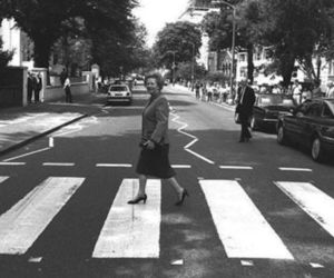 margaret thatcher and abbey road image