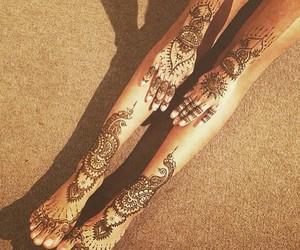 henna, summer, and tattoo image