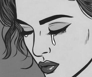 cry, pop art, and sad image