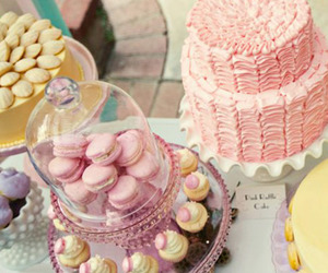 cakes, macarones, and candy image