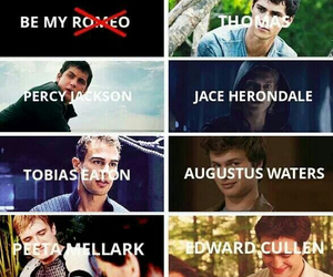 percy jackson, divergent, and thomas image
