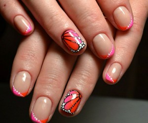 beautiful, butterfly, and nails image