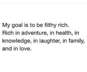 family, goals, and rich image