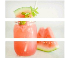 healthy, melon, and water image