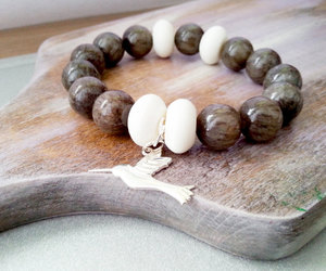 bridesmaid gift, stone bracelet, and maid of honour image