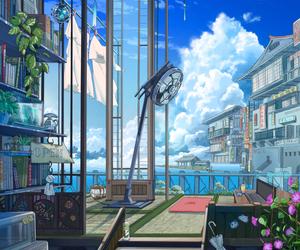 art, illustration, and sky image