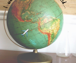 globe, maps, and plane image