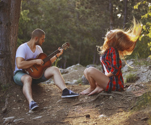 couple, girl, and music image